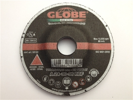 Immagine di Disco abrasivo Globe 115 x 6,5 R