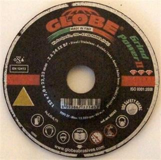 Immagine di Disco abrasivo Globe 125 x 7,0 GrindPower II