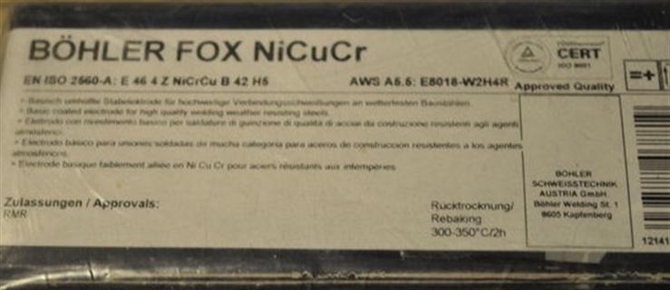 Immagine di Elettrodi Bohler FOX NiCuCr ø 2,5x350