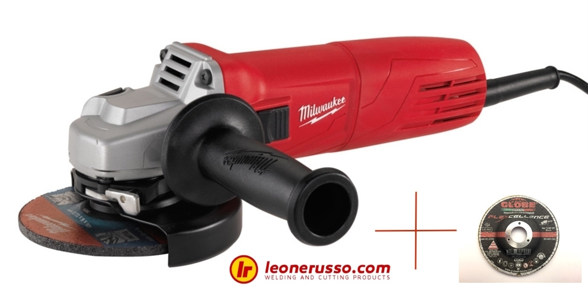 Kit: Milwaukee AG 10-125 + 50 Pz dischi Globe 125 flexcellence